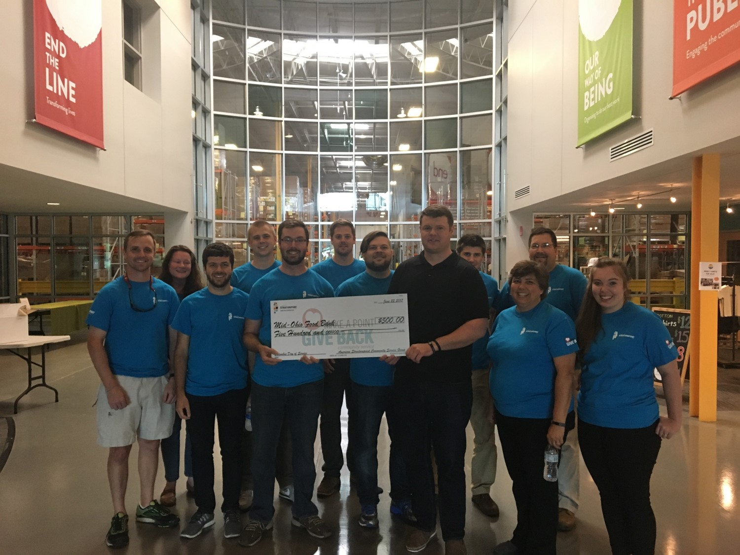 Mid ohio food bank benefits from columbus day of service for Food pantry columbus ohio